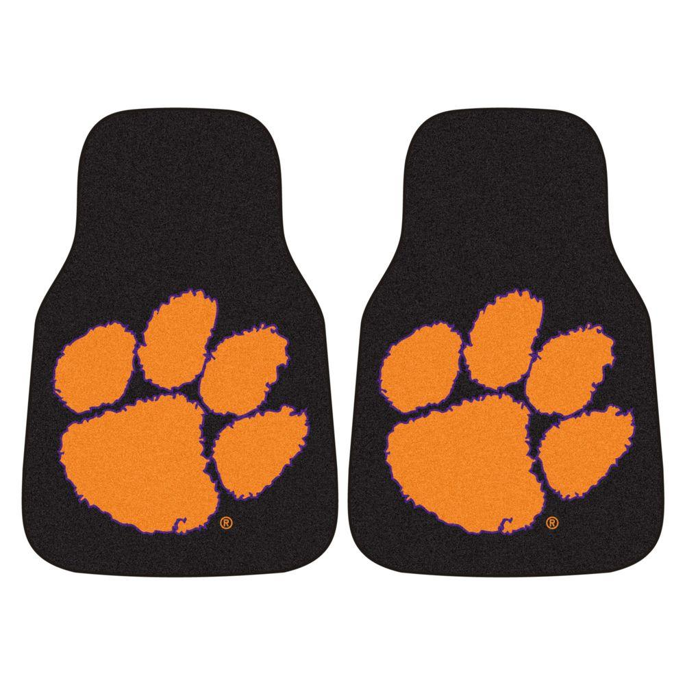 Clemson University 18 in. x 27 in. 2-Piece Carpeted Car Mat