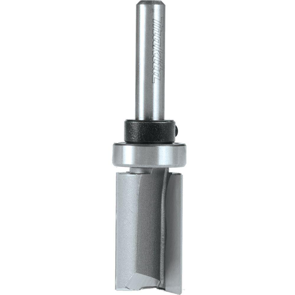 Makita 3/4 in. x 1 in. Carbide-Tipped 2-Flute Top Bearing Flush Router Bit with 1/4 in. Shank