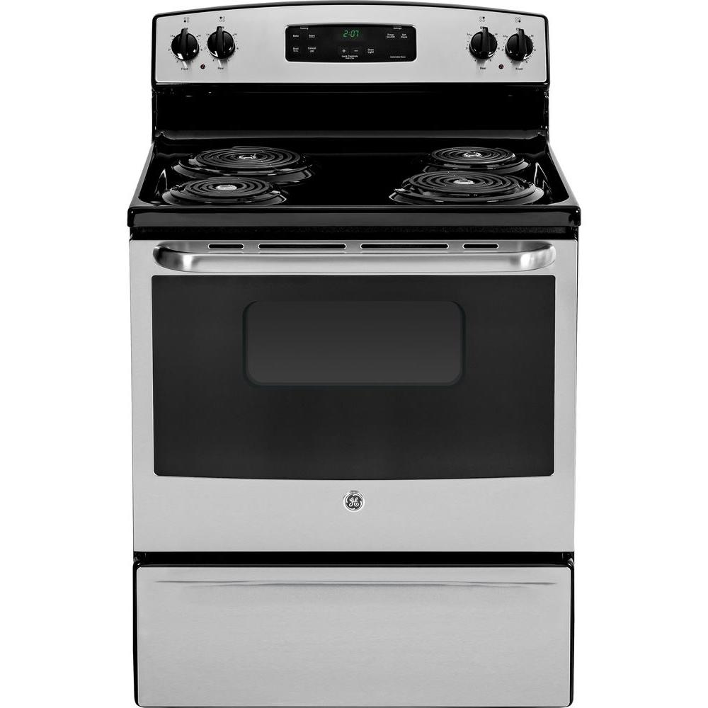 GE 30 in. 5.0 cu. ft. Electric Range in Stainless Steel