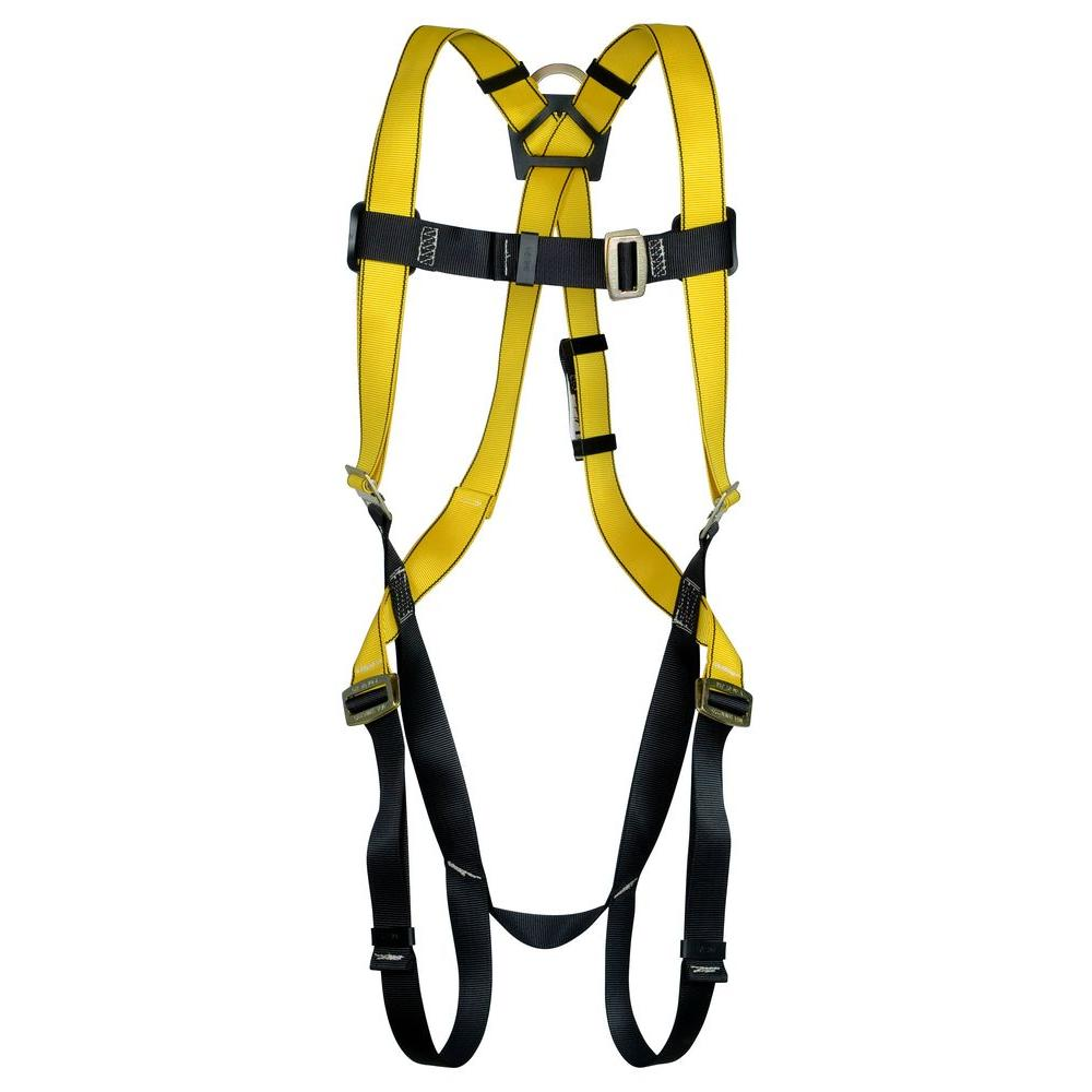 Safety Works Polyester Yellow Standard Qwik-Fit Harness with 3 D-Rings-10096481