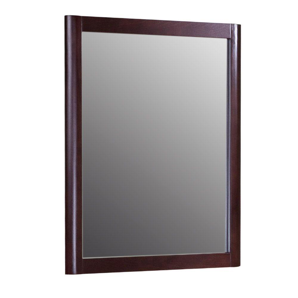 Home Decorators Collection Madeline 27-2/5 in. L x 22 in. W Wall Mirror in Chestnut