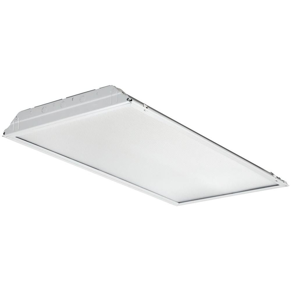 4 ft. Gloss White LED General Purpose Troffer