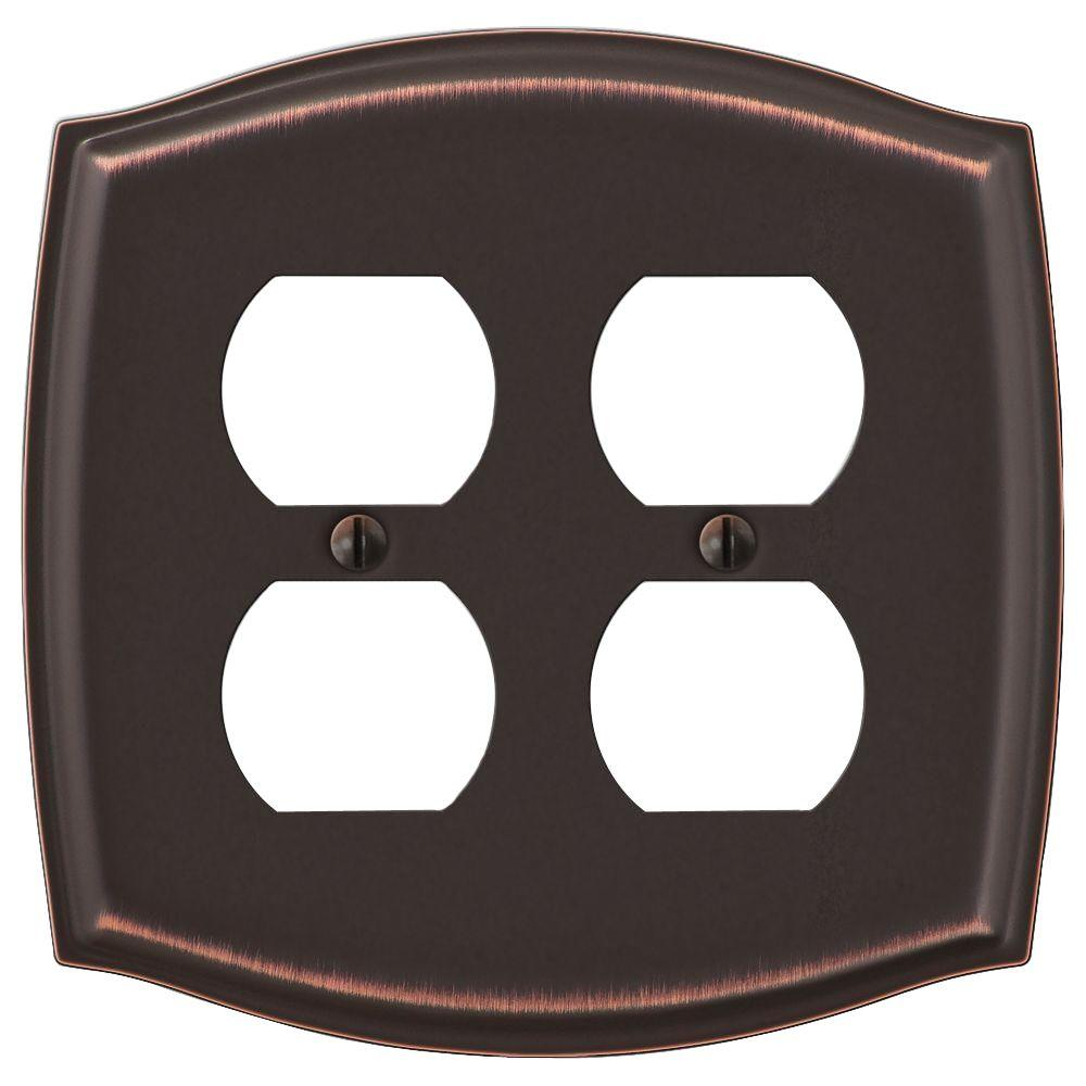 Sonoma 2-Gang Duplex Wall Plate, Aged Bronze-159DDDB - The Home Depot
