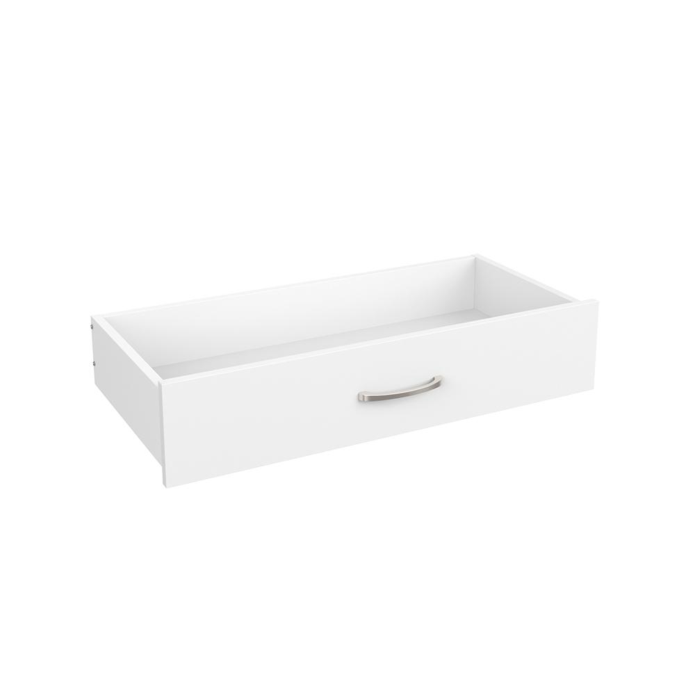 Easentials 6 in. H x 30 in. W White Melamine Casual