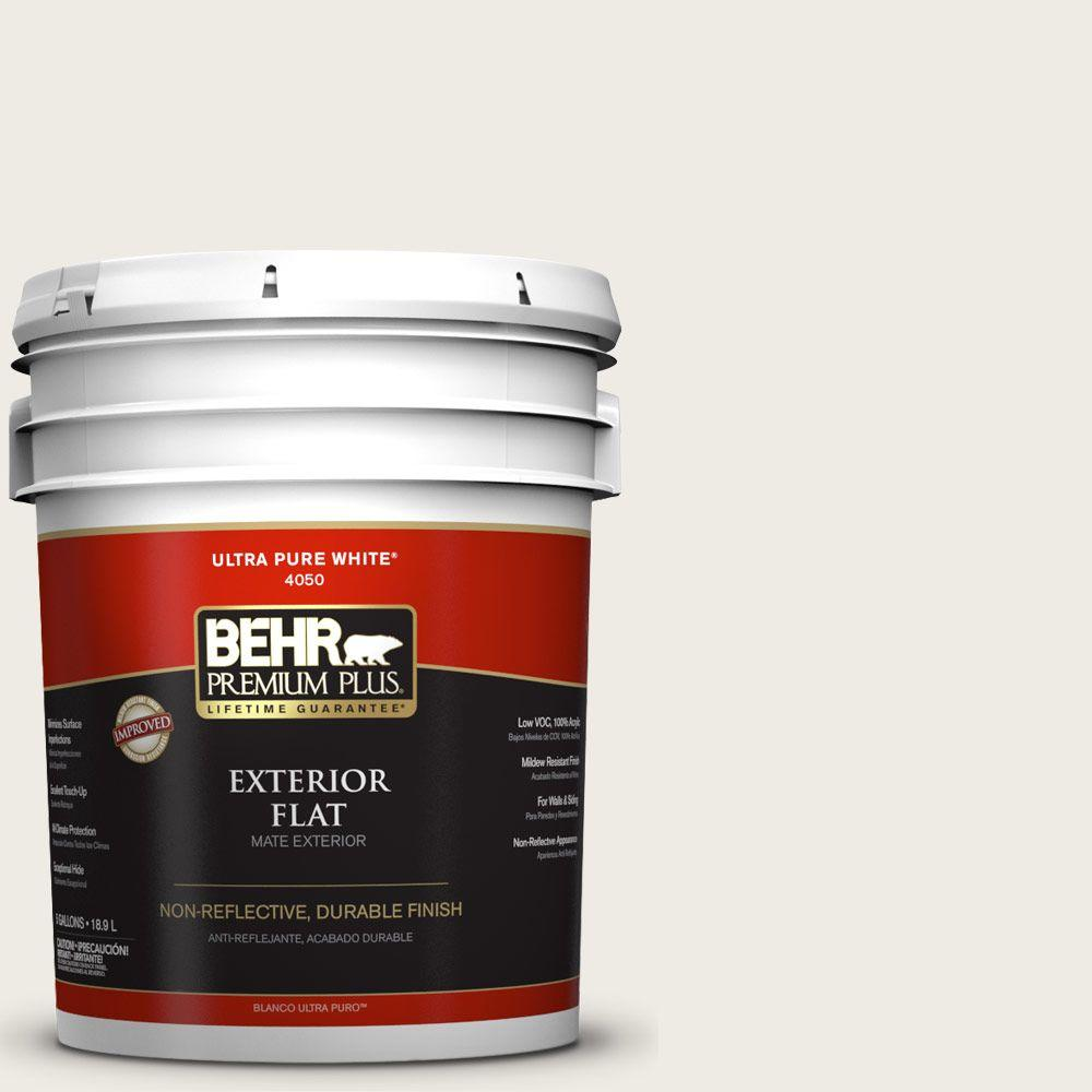 5-gal. #BWC-06 Solid Opal Flat Exterior Paint