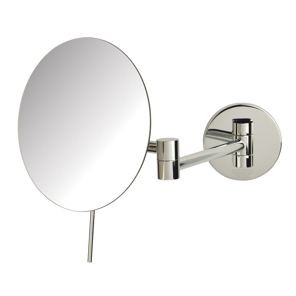 9.25 in. x 9.5 in. Wall Mirror in Chrome