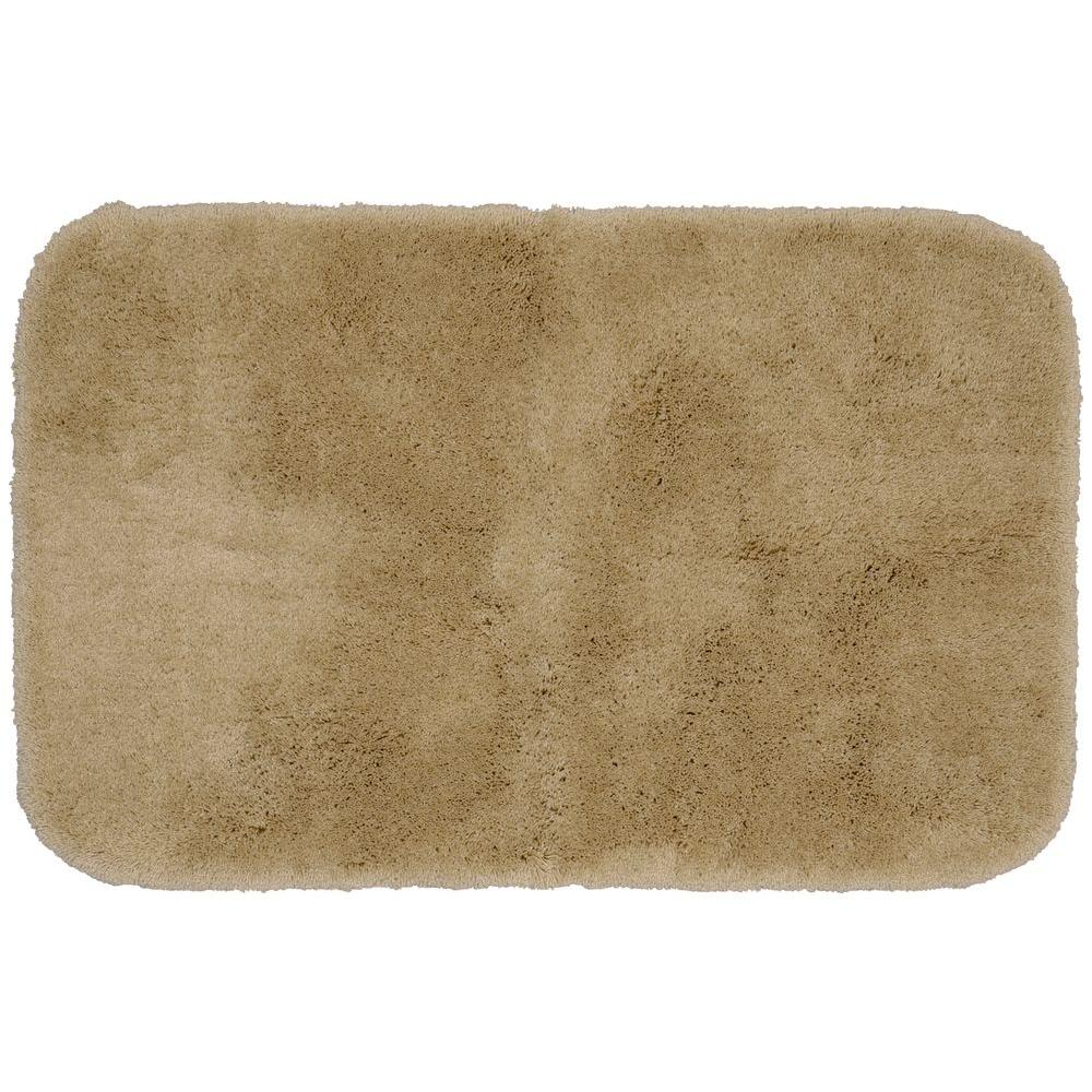 Garland Rug Finest Luxury Taupe 24 in. x 40 in. Washable Bathroom Accent Rug