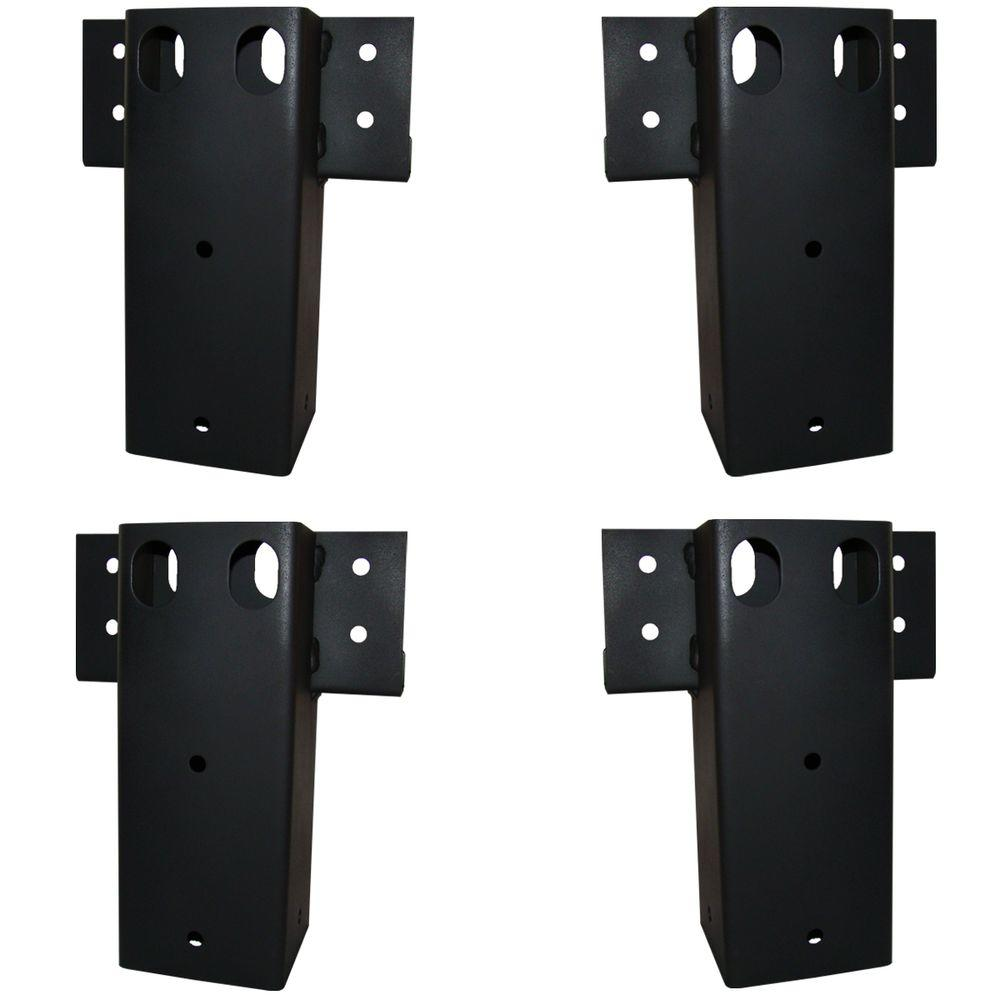 4 in. x 4 in. Straight Brackets (Set of 4)