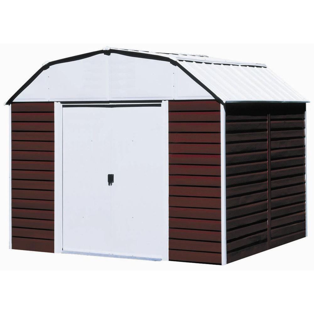 Red Barn 10 ft. x 8 ft. Metal Storage Building