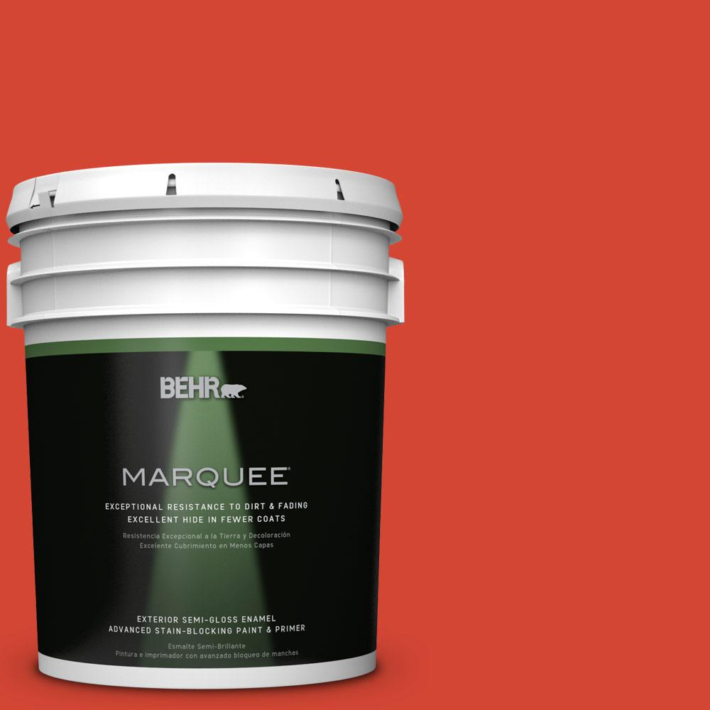 BEHR MARQUEE 5-gal. #S-G-190 Red Hot Semi-Gloss Enamel Exterior Paint