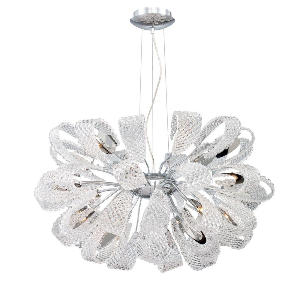 Eurofase Origami Collection 21-Light Chrome Chandelier