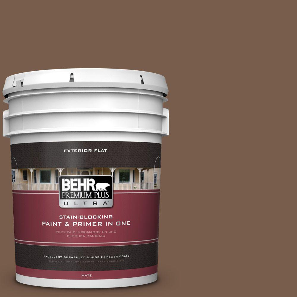 5-gal. #250F-7 Melted Chocolate Flat Exterior Paint