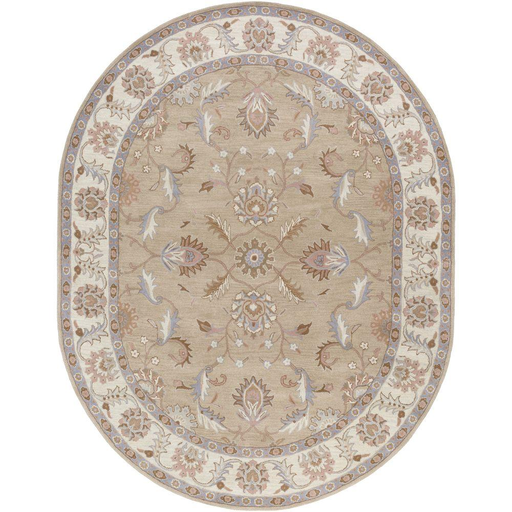 Artistic Weavers Chenni Beige 8 ft. x 10 ft. Oval Indoor