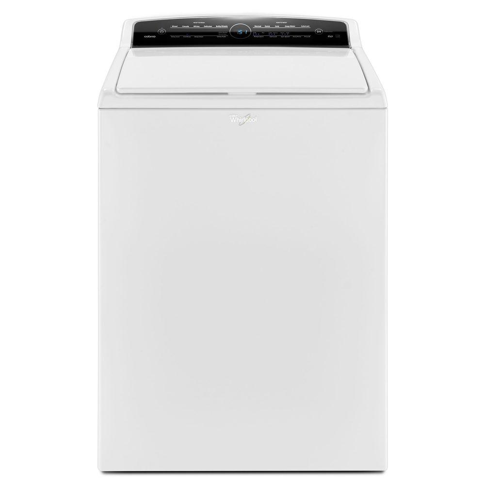 whirlpool washing machines cabrio 4 8 cu ft high efficiency top load washer in white wtw7000dw. Black Bedroom Furniture Sets. Home Design Ideas