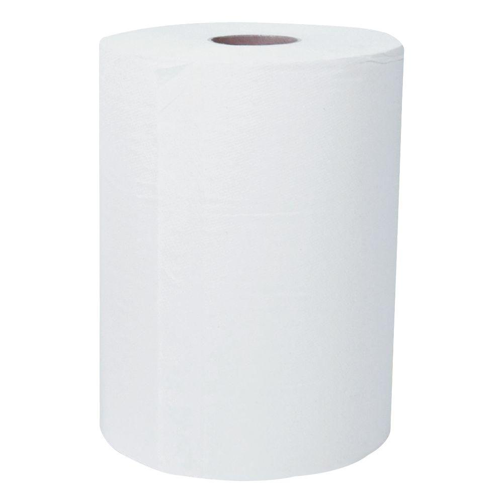 White 1-Ply Slimroll Hard Roll Paper Towels (Case of 6)