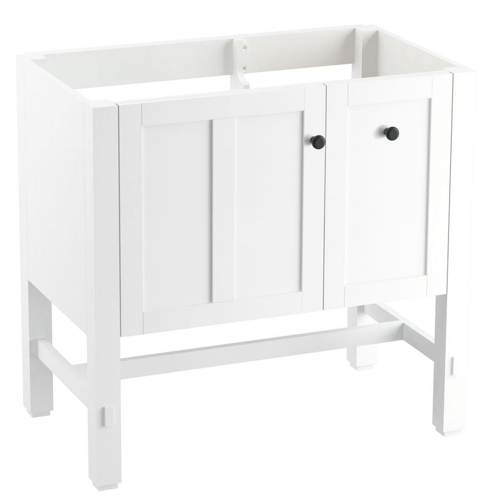 Tresham 30 in. W Vanity in Linen White with Vitreous China