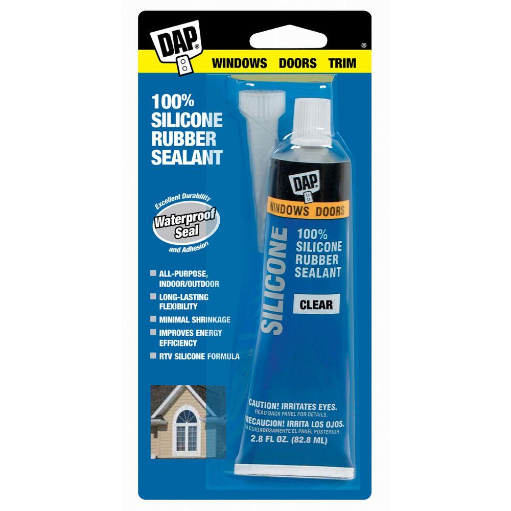 2.8 oz. Clear 100% Silicone Rubber Sealant (12-Pack)