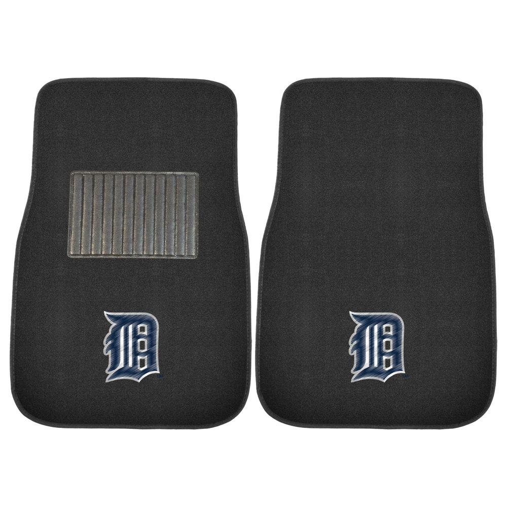 FANMATS MLB Detroit Tigers 2-Piece 17 in. x 25.5 in. Carpet