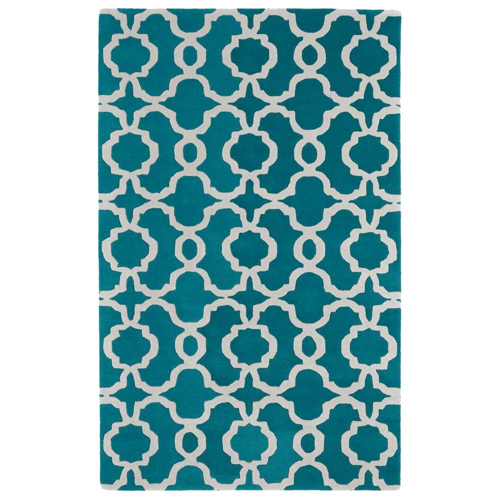 Kaleen Revolution Teal 3 ft. x 5 ft. Area Rug