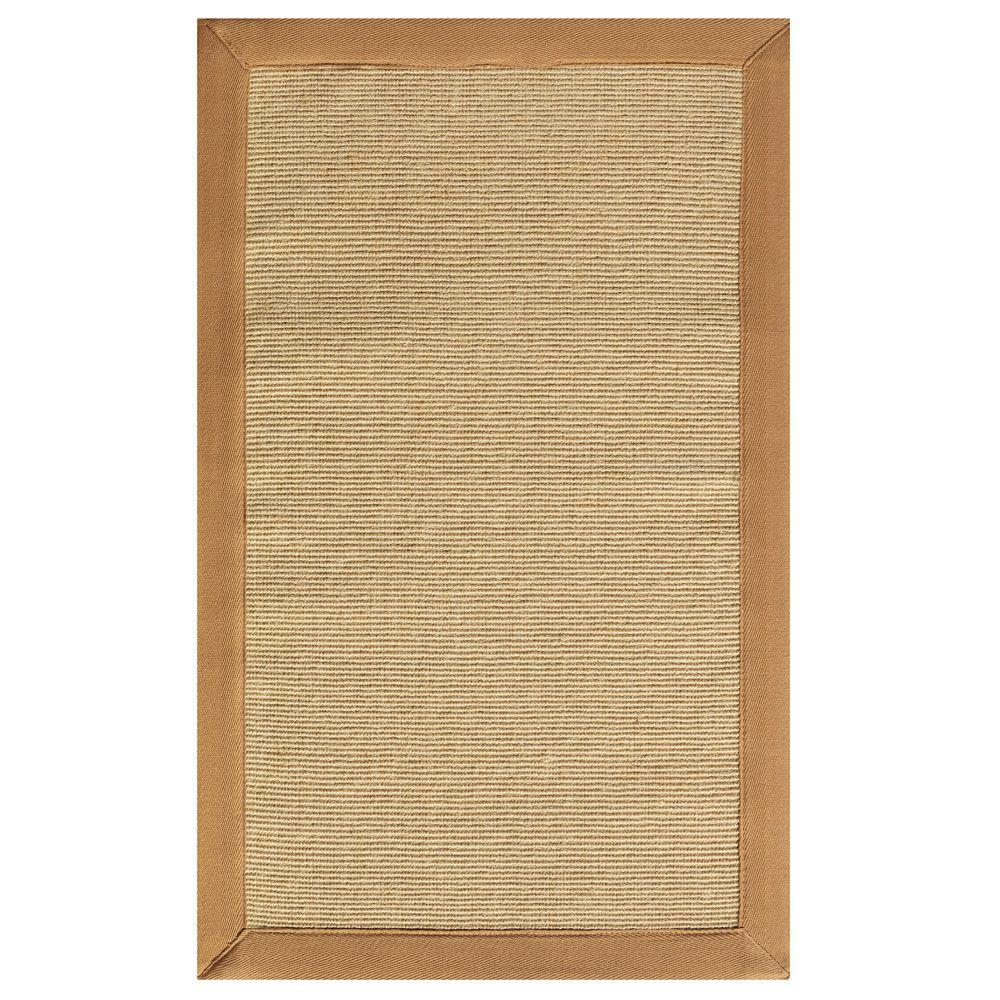 Home Decorators Collection Washed Jute Saddle 5 ft. 6 in. x 8 ft. 6 in. Area Rug