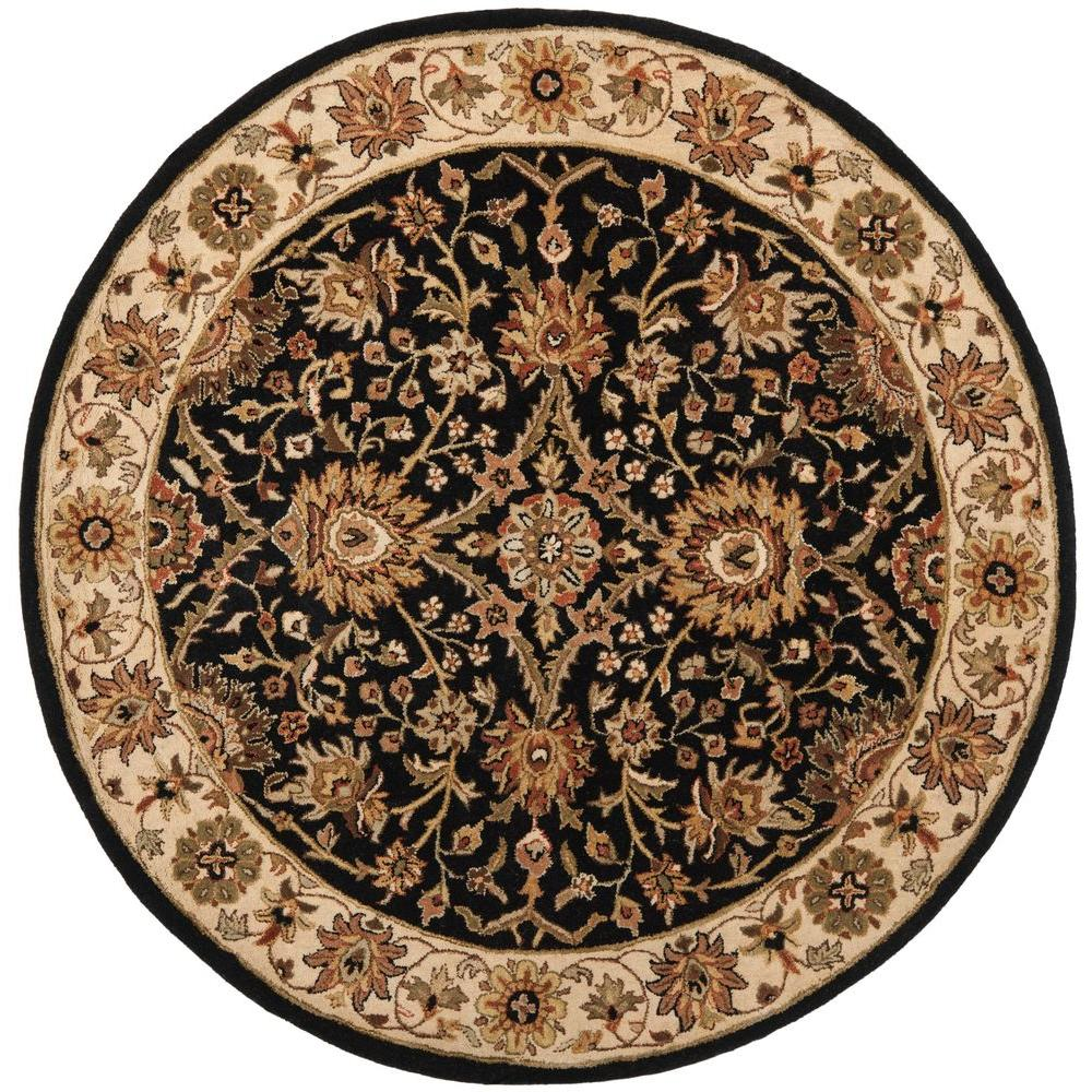 Safavieh Antiquity Black 6 ft. x 6 ft. Round Area Rug-AT249B-6R