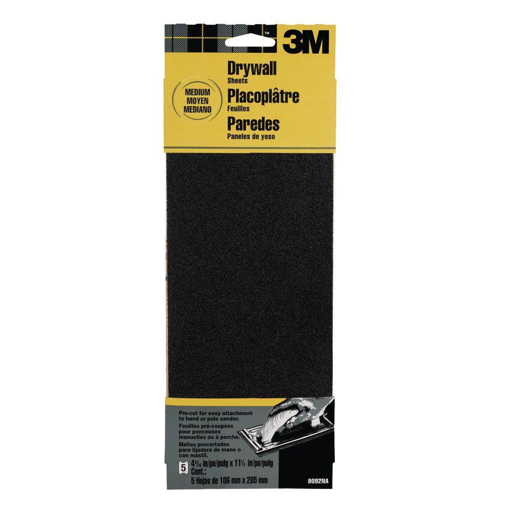 4-3/16 in. x 11-1/4 in. 120-Grit Medium Drywall Sanding Sheets 5