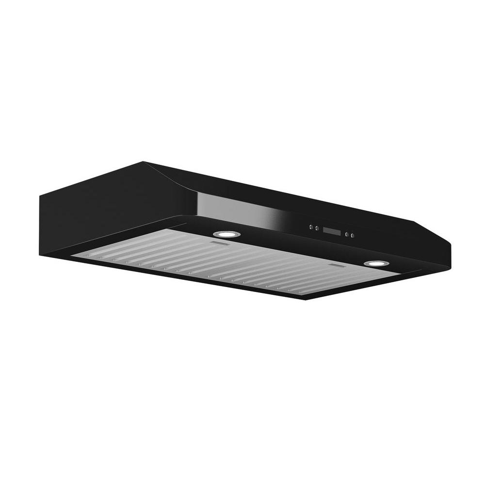 Ancona Slim Chef 30 in. Under-Cabinet Range Hood in Black-AN-1266 -