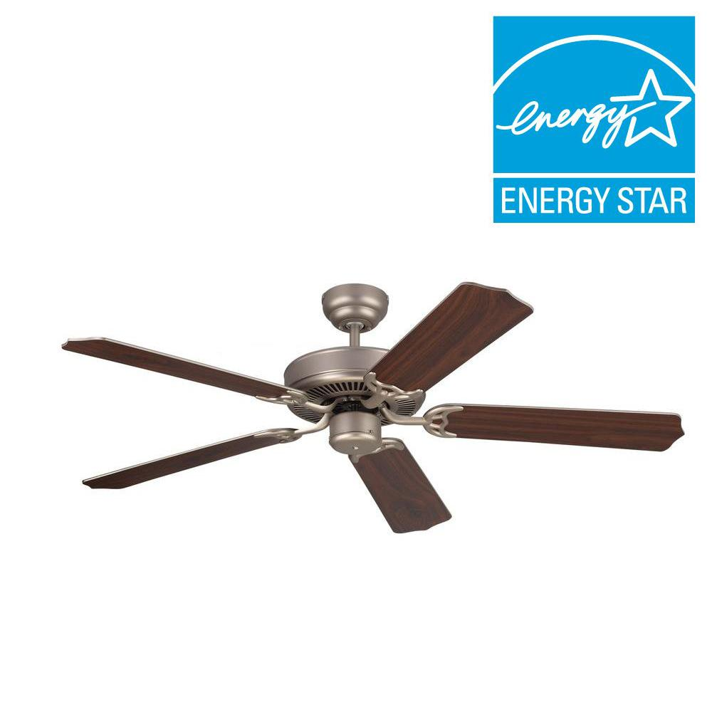 Monte Carlo Homeowner Max 52 in. Brushed Pewter Silver Ceiling Fan-5HM52BPN