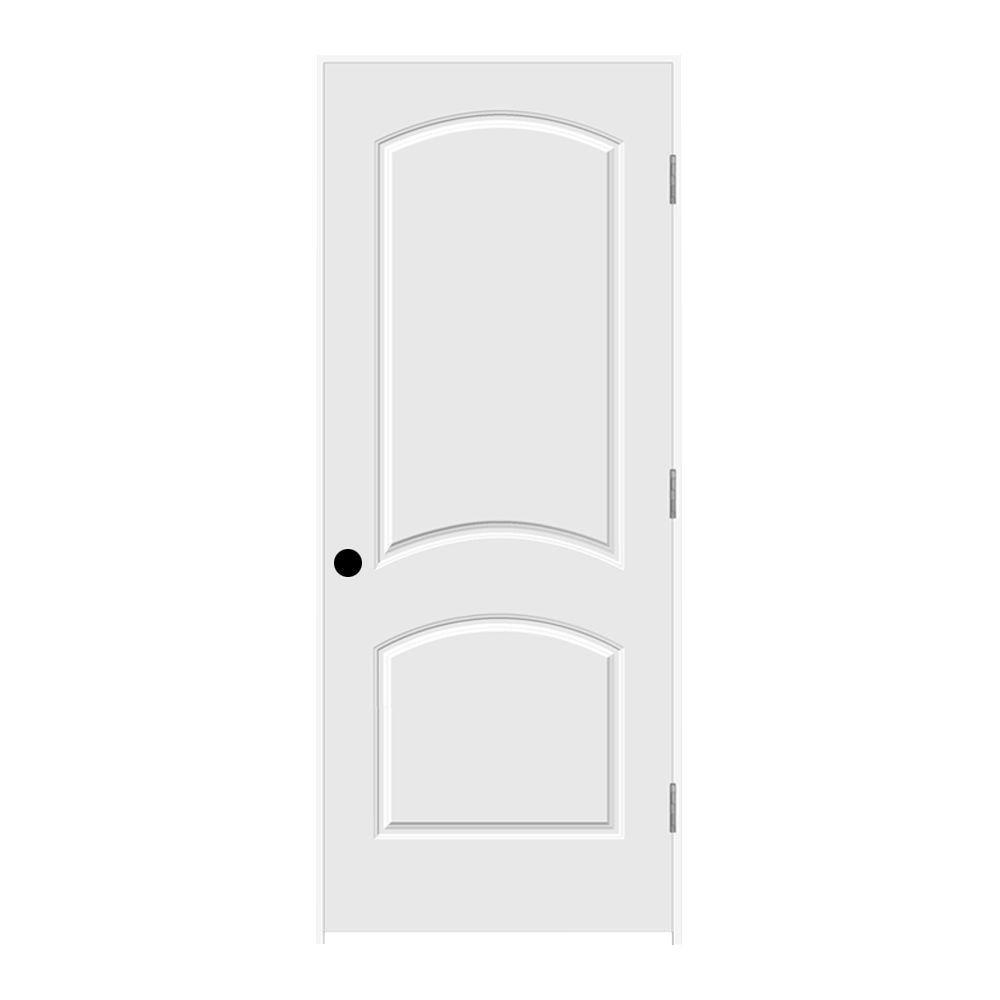 32 in. x 80 in. Primed Left-Hand C2050 2-Panel Arch Top