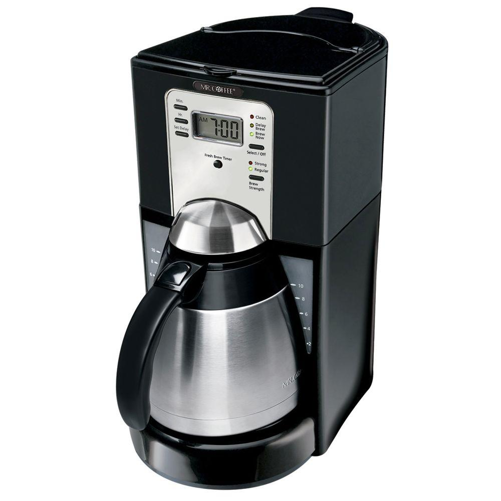 Mr. Coffee 10-Cup Programmable Thermal Coffeemaker in Black