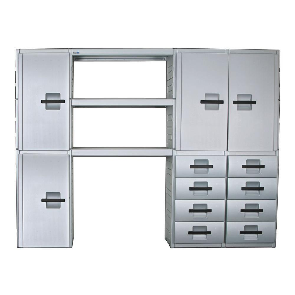 Inter-LOK Storage Systems 108 in. Wide 8 Drawer Cabinet Storage System-DISCONTINUED