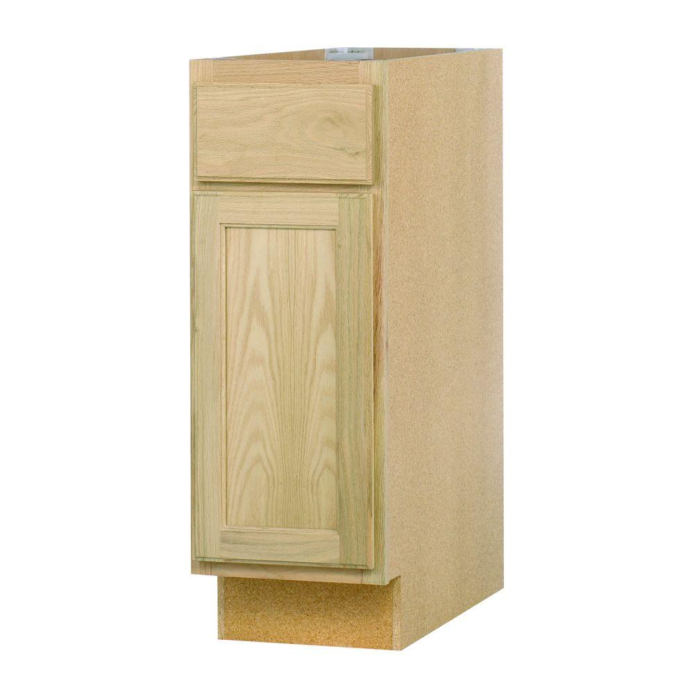 Home Depot Kitchen Base Cabinets: 12x34.5x24 In. Base Cabinet In Unfinished Oak-B12OHD