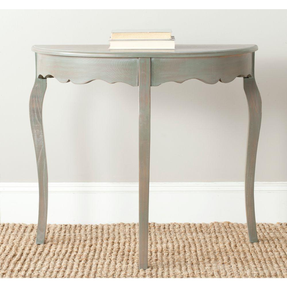 Aggie Steel Teal Console Table