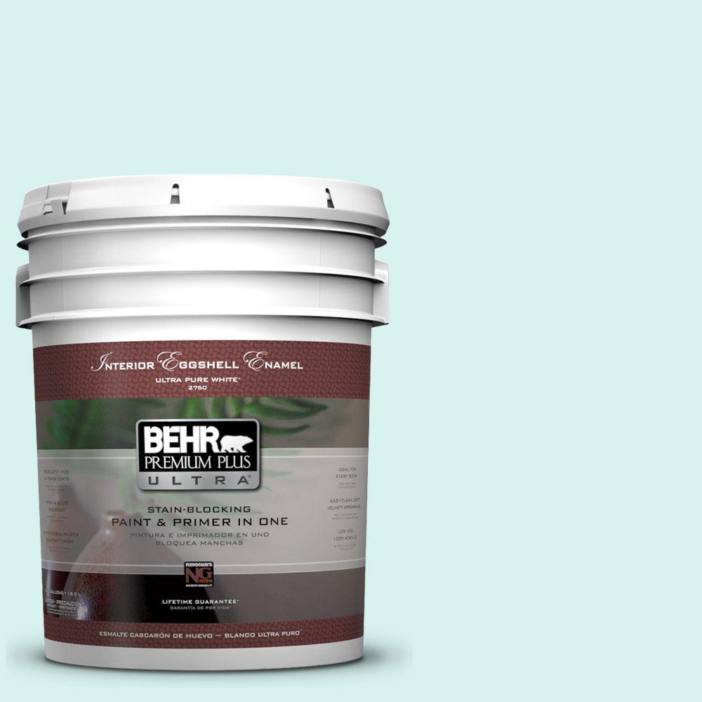 BEHR Premium Plus Ultra 5-gal. #480A-1 Minted Ice Eggshell Enamel Interior Paint