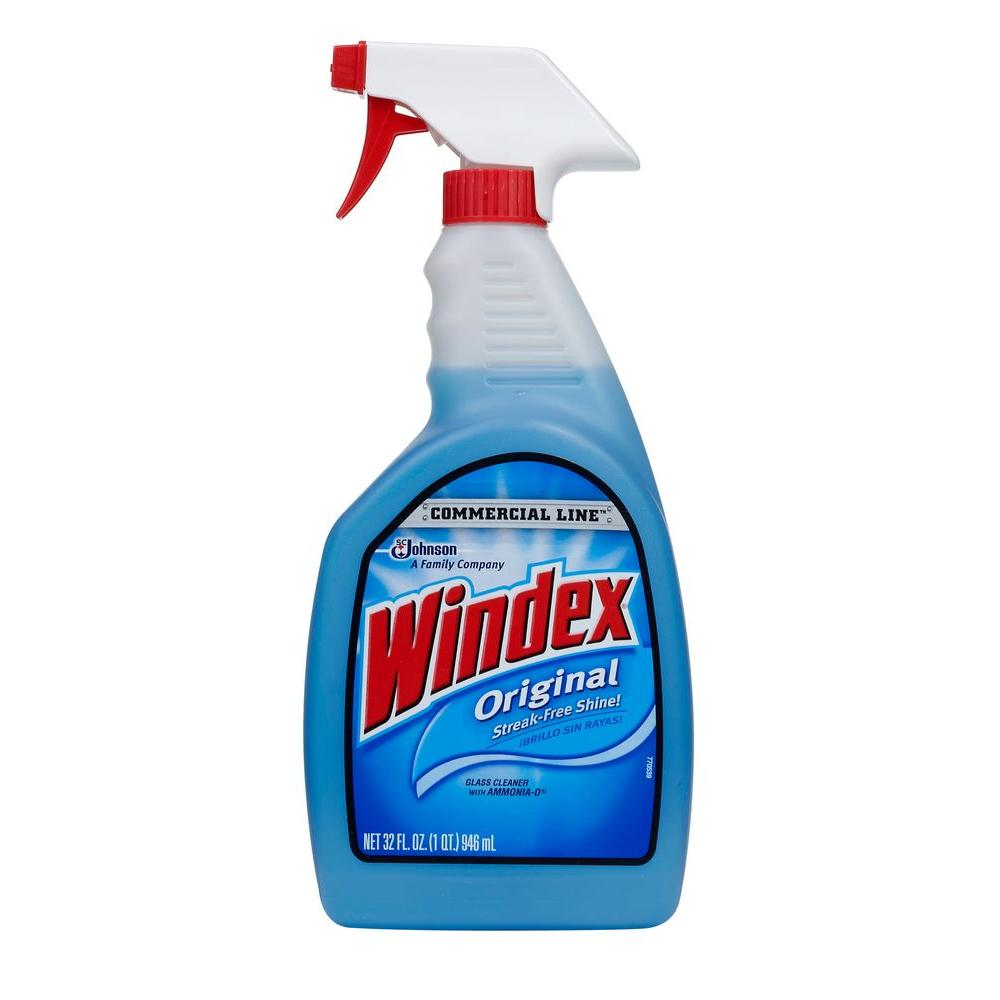 Windex 32 oz. Commercial Line Original Powerized Glass Cleaner Trigger