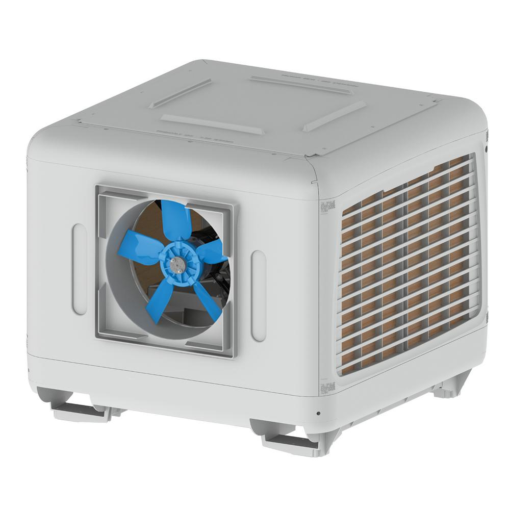 7000 CFM 2-Speed Down/Side Discharge Roof Top Evaporative Cooler for 2500