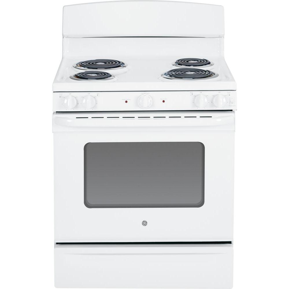 GE 5.0 cu. ft. Electric Range in White-JBS45DFWW - The Home