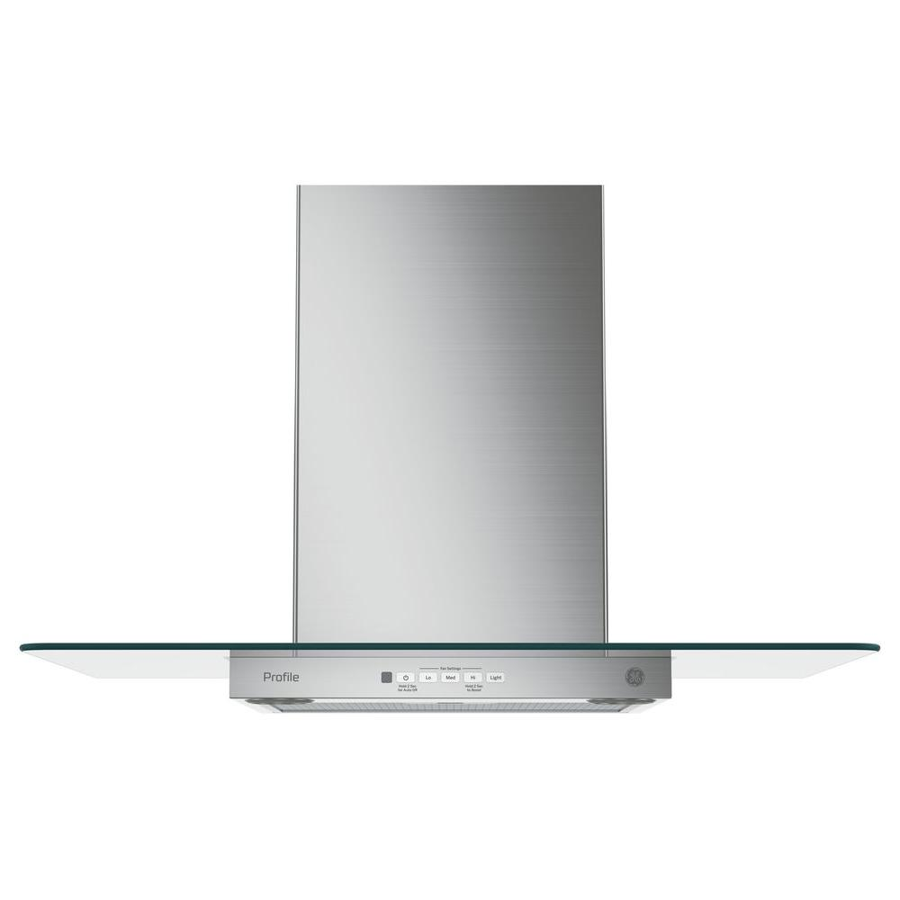 GE Profile 30 in. Convertible Chimney Range Hood in Stainless Steel-PVW7301SJSS