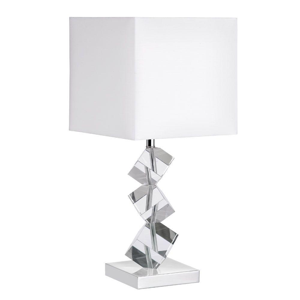 Filament Design Catherine 21 in. Polished Chrome Table Lamp with White