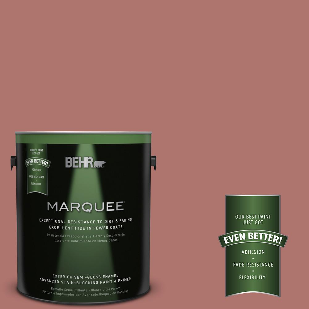 BEHR MARQUEE 1-gal. #S160-5 Hot Chili Semi-Gloss Enamel Exterior Paint