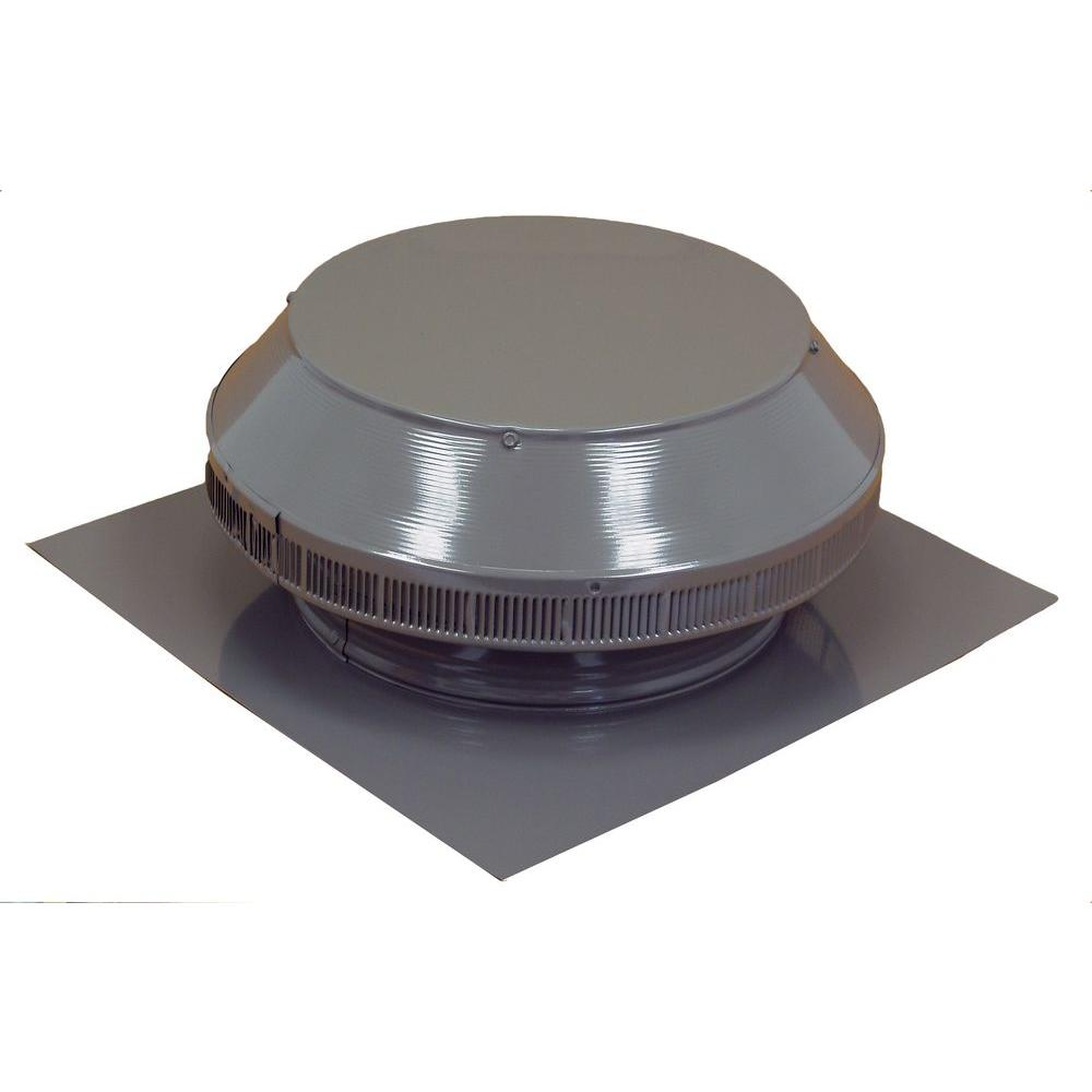 12 in. Dia Aluminum Roof Louver Exhaust Vent in Weatherwood Powder