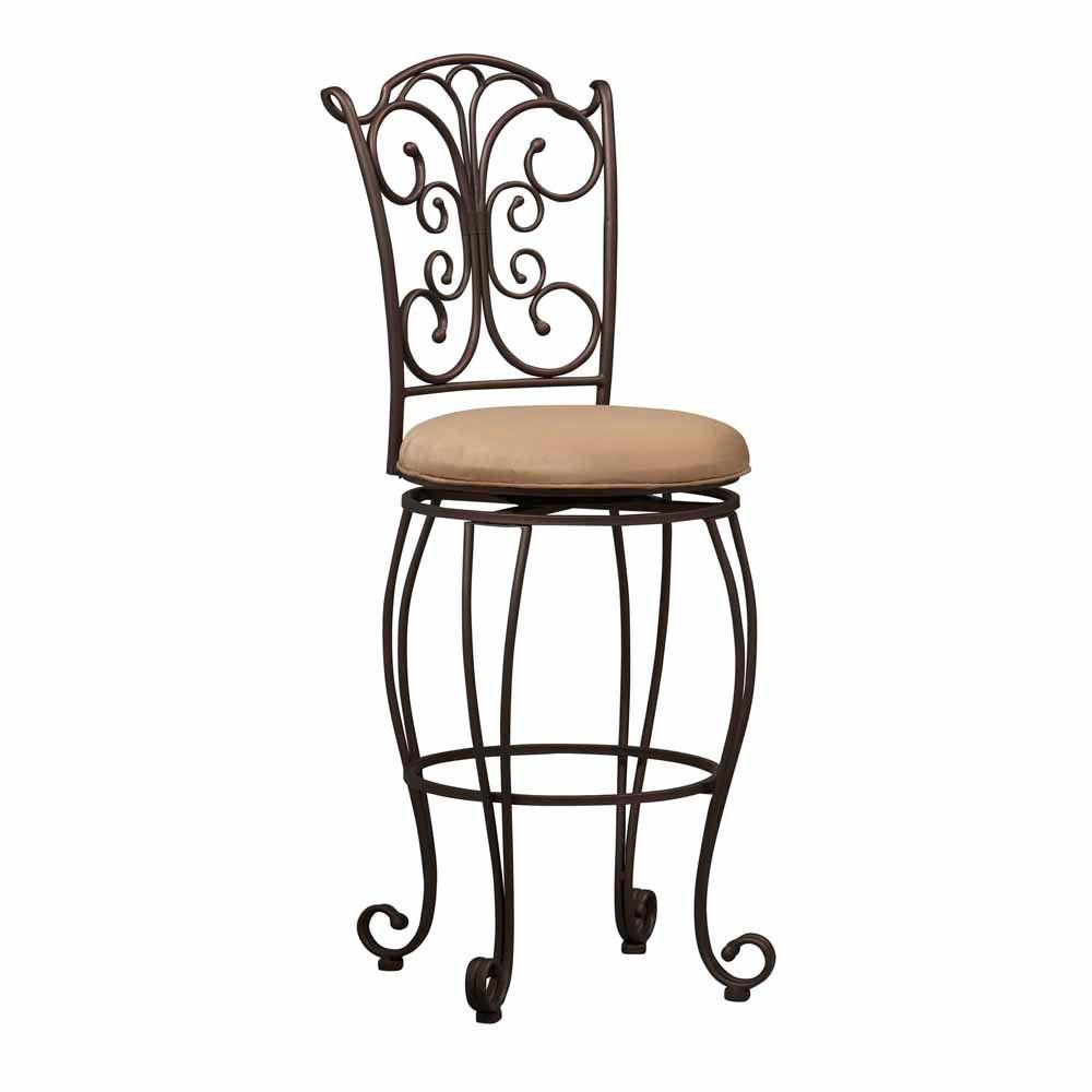 null 30 in. Gathered Back Bar Stool
