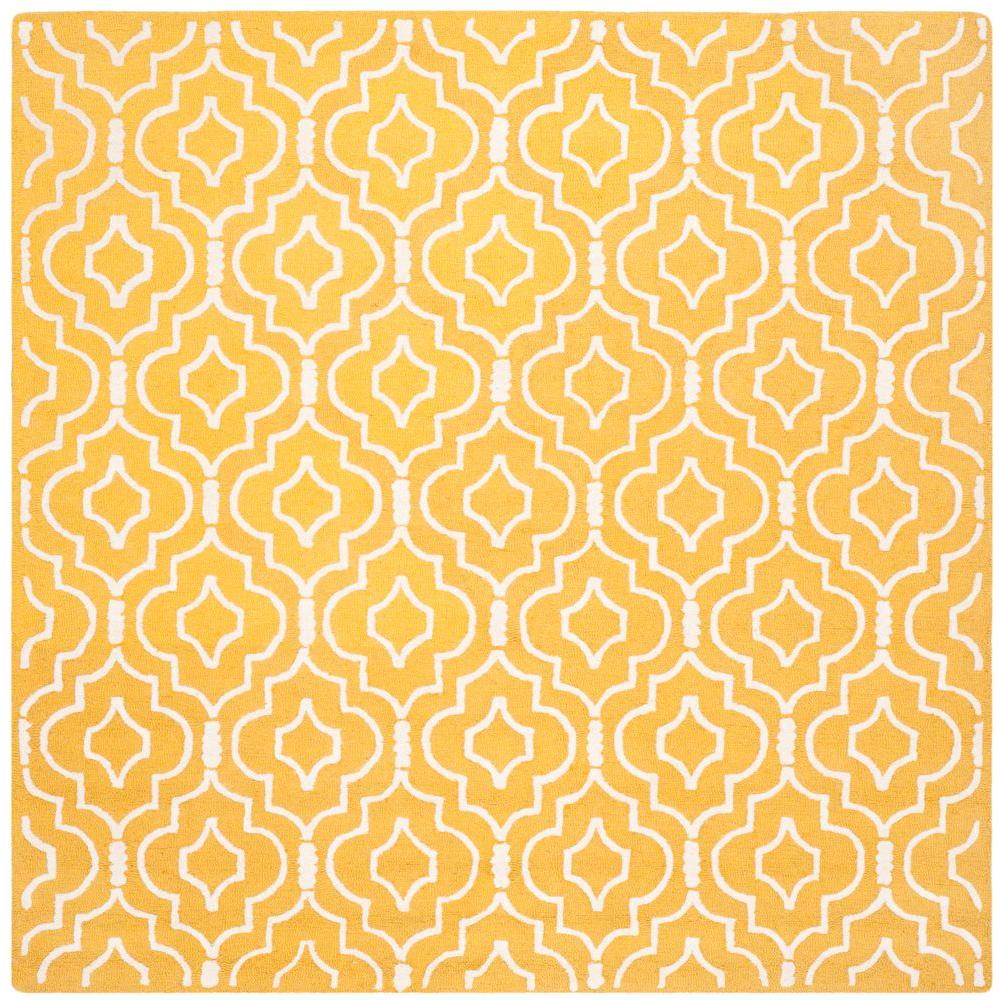 Cambridge Gold/Ivory 8 ft. x 8 ft. Square Area Rug