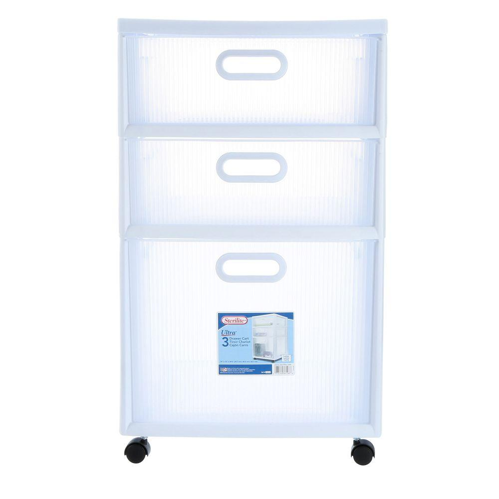 Sterilite 16 in. 3-Drawer Ultra Cart (2-Pack)