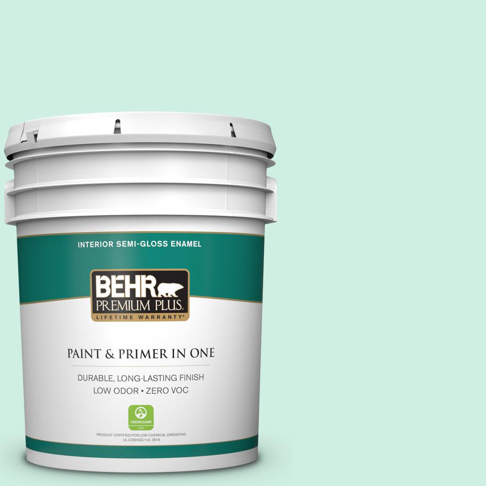 5-gal. #P420-1 Spring Frost Semi-Gloss Enamel Interior Paint