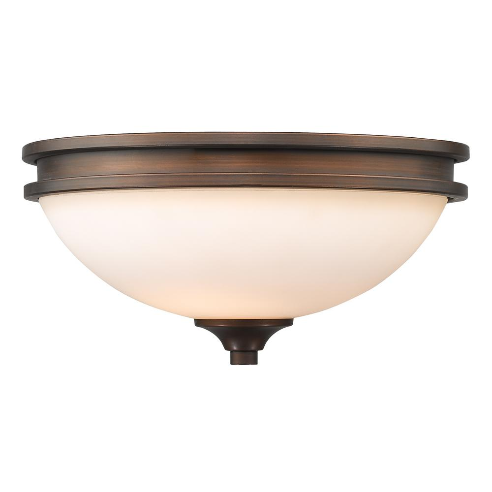 Holborn Collection 2-Light Sovereign Bronze Flushmount-THD1051FM - The Home Depot