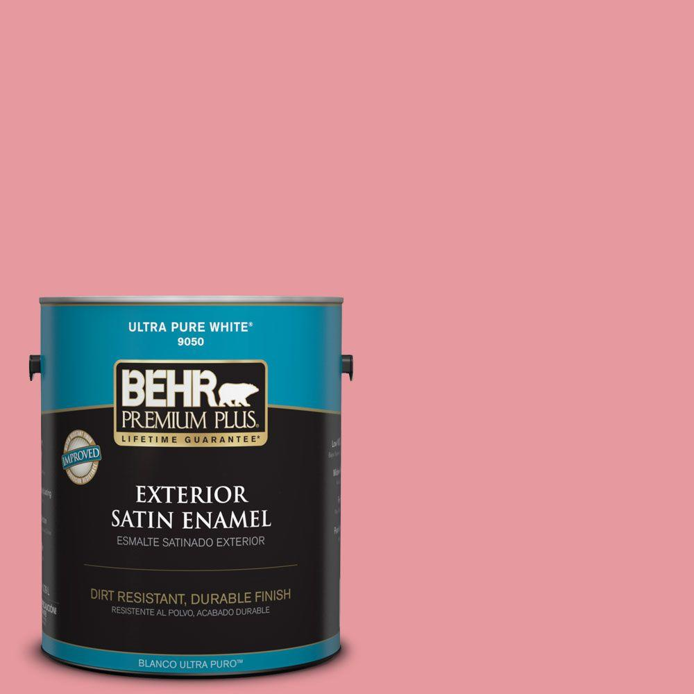 1-gal. #P160-3 All Dressed up Satin Enamel Exterior Paint