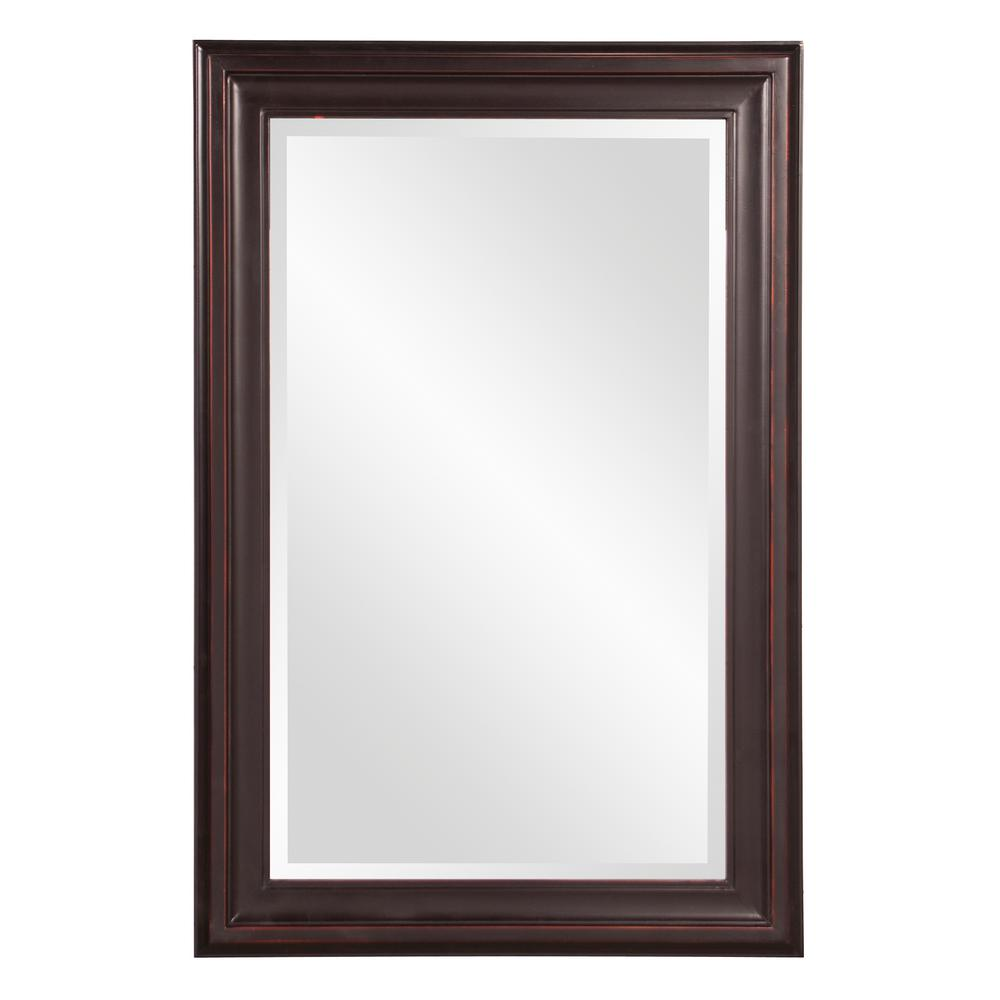 The Howard Elliott Collection 36 in. x 24 in. x 1 in. Oil Rubbed Rectangular Vanity Framed Mirror