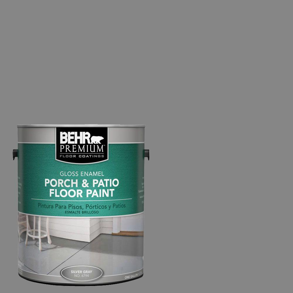 BEHR Premium 1-gal. #PFC-63 Slate Gray Gloss Porch and Patio Floor Paint