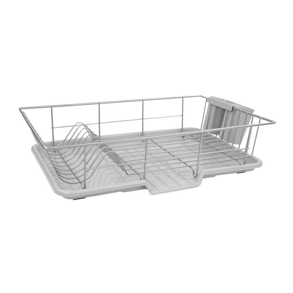Home Basics 3-Piece Dish Drainer-DD30233 - The Home Depot